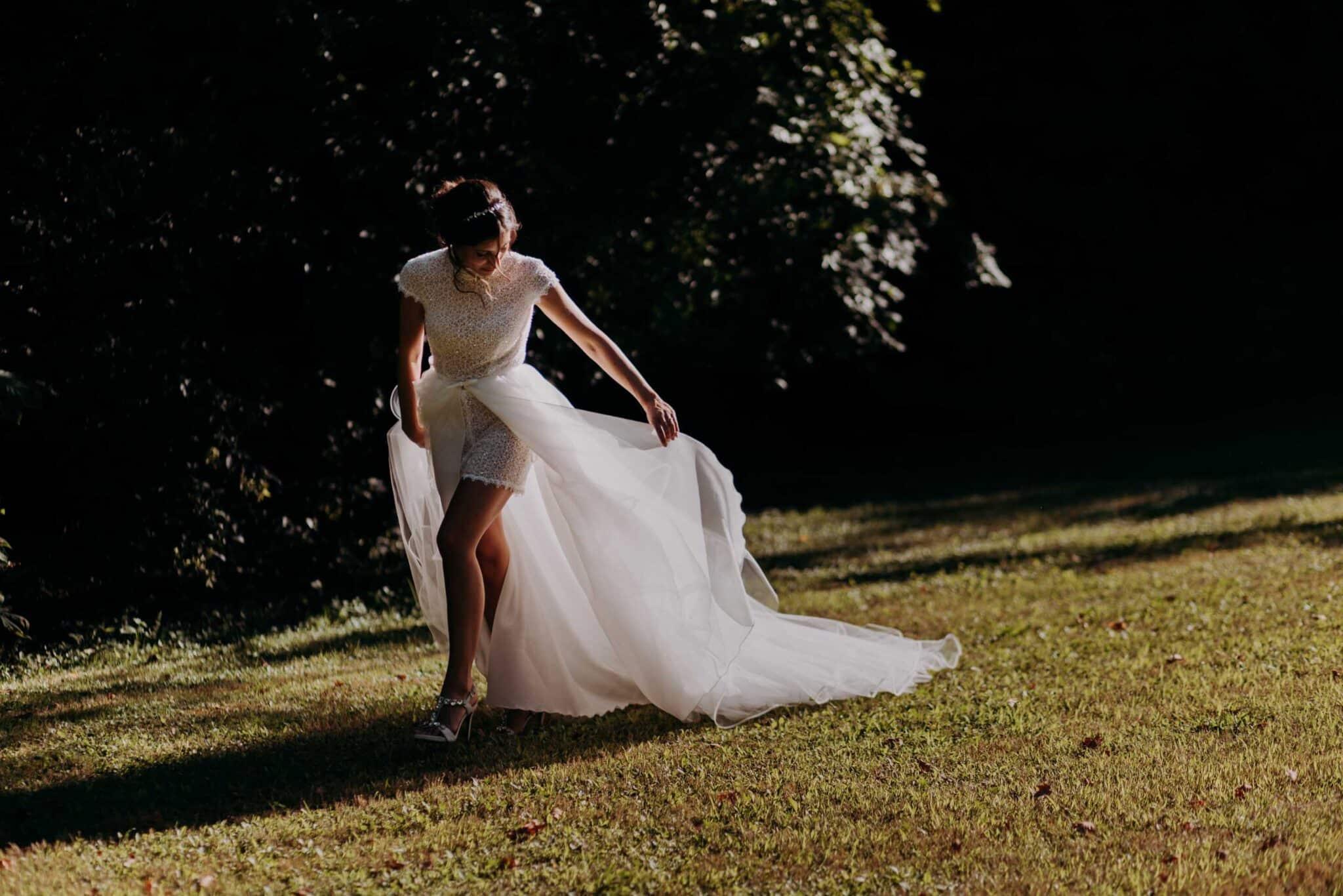 wedding dress in Villa Grabau