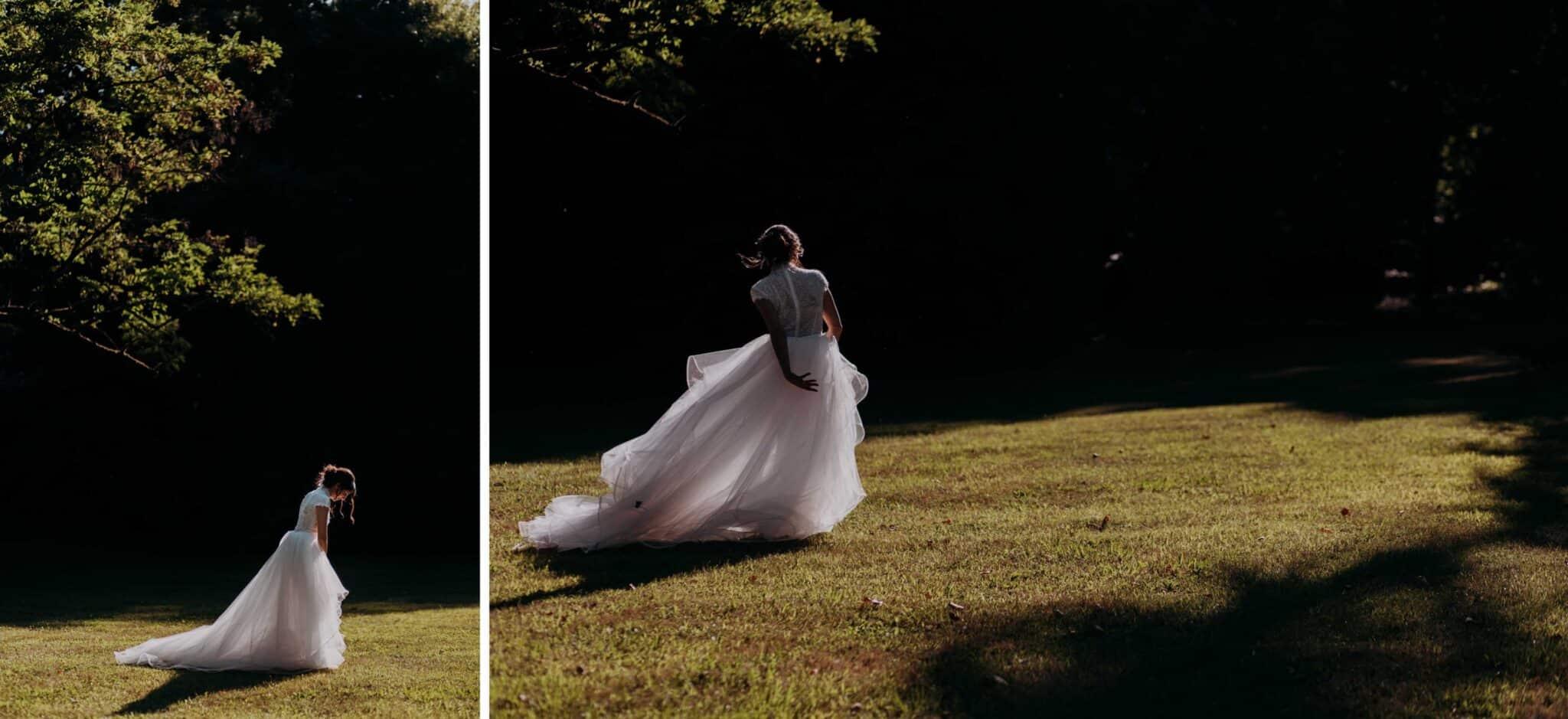 la sposa nel parco di Villa Grabau