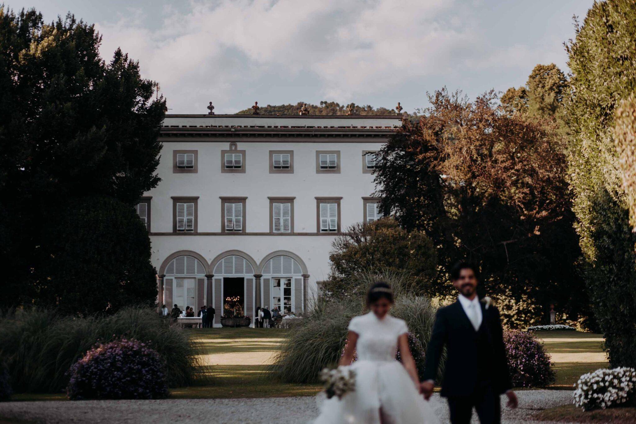 Villa Grabau durante un matrimonio in un giorno estivo