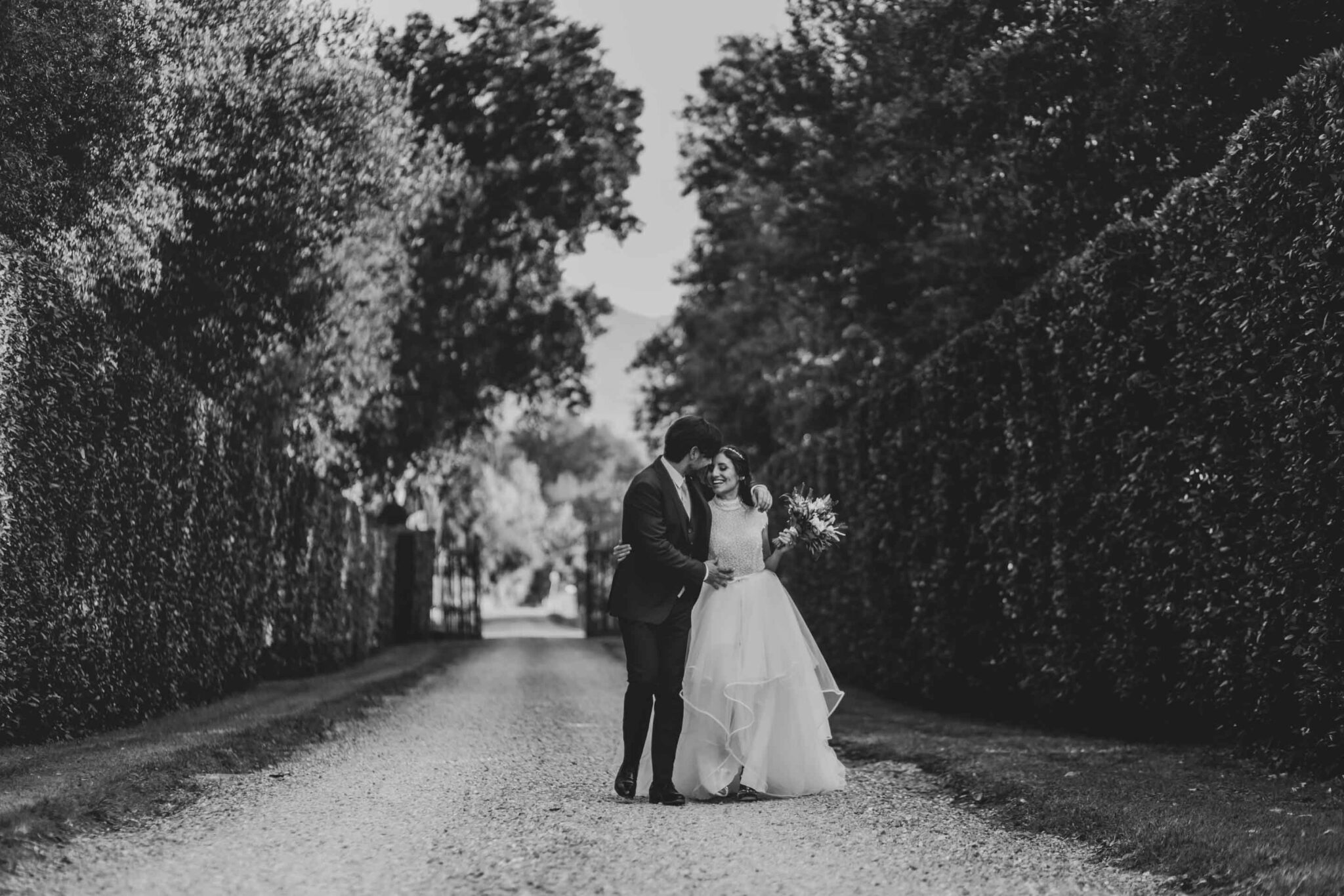 matrimonio in bianco e nero a Villa Grabau