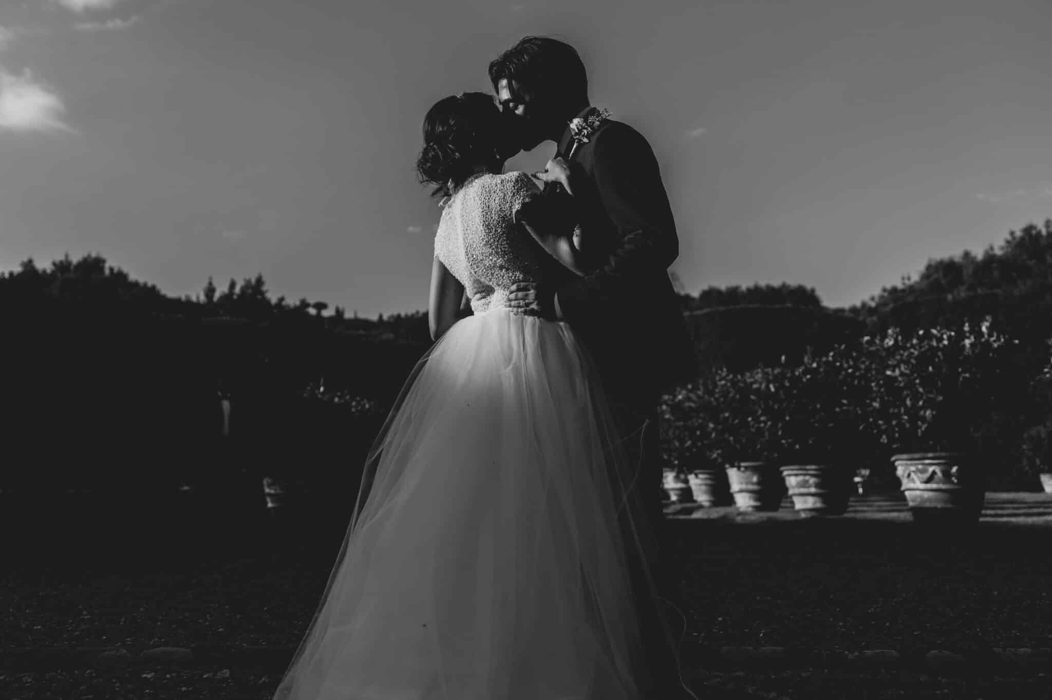 bacio a Villa Grabau