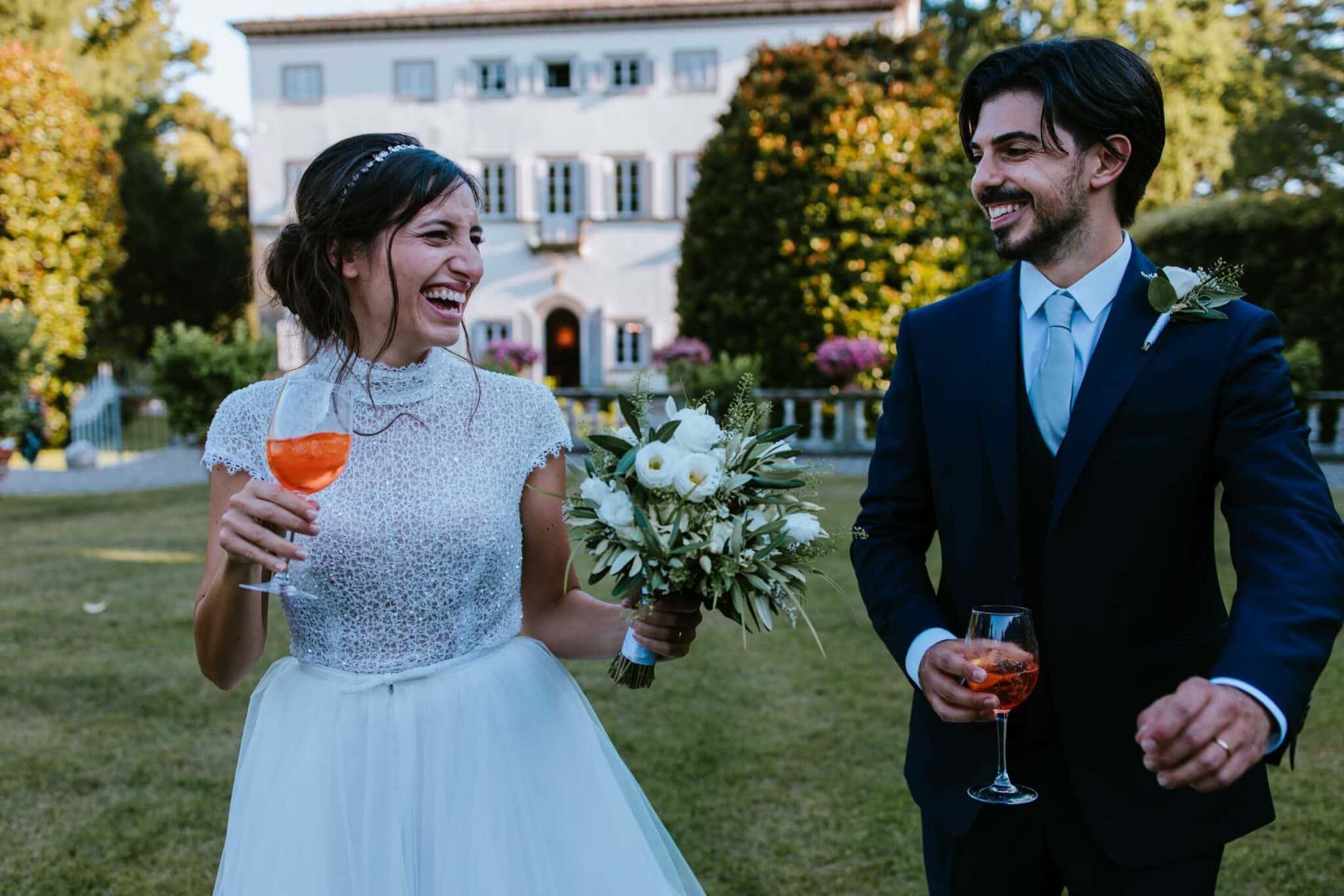 scatti rubati durante un matrimonio a Villa Grabau