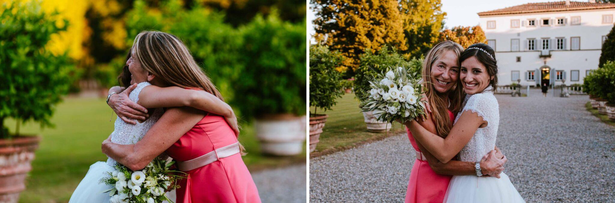 la sposa e la mamma, matrimonio a Villa Grabau
