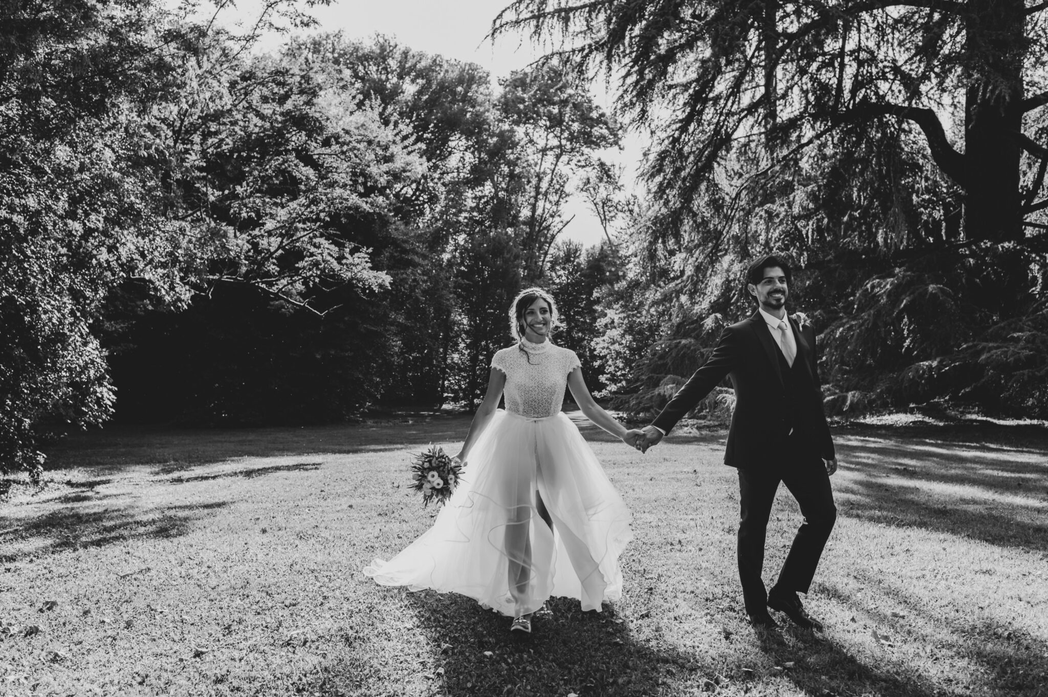 il matrimonio di Caterina e Giacomo nel giardino di Villa Grabau a Lucca