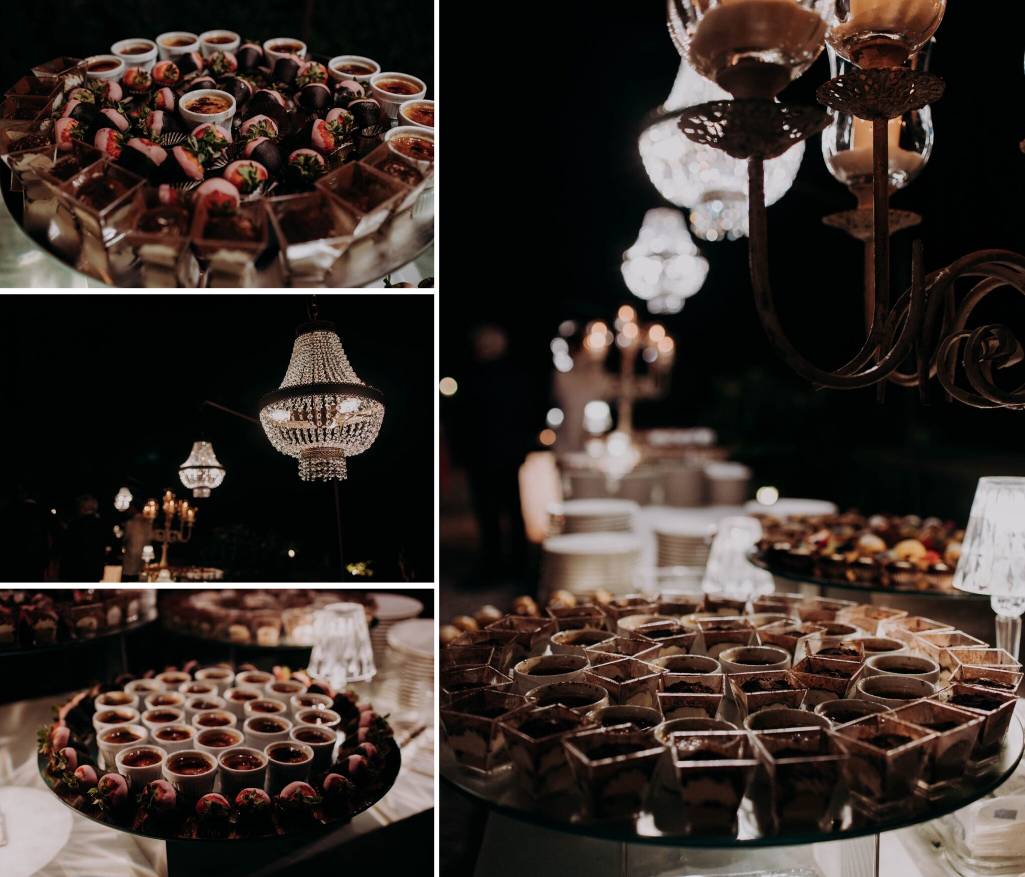 dettagli dell'allestimento dei dolci a Villa Grabau