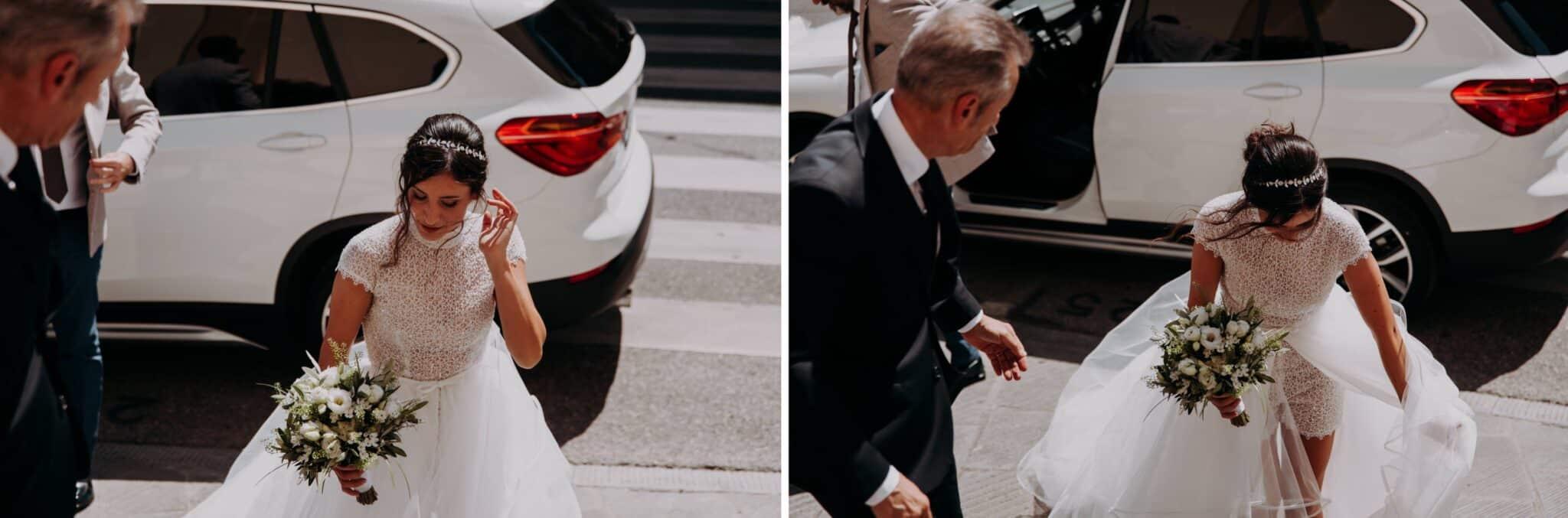 arrivo della sposa alla chiesa di Altopascio