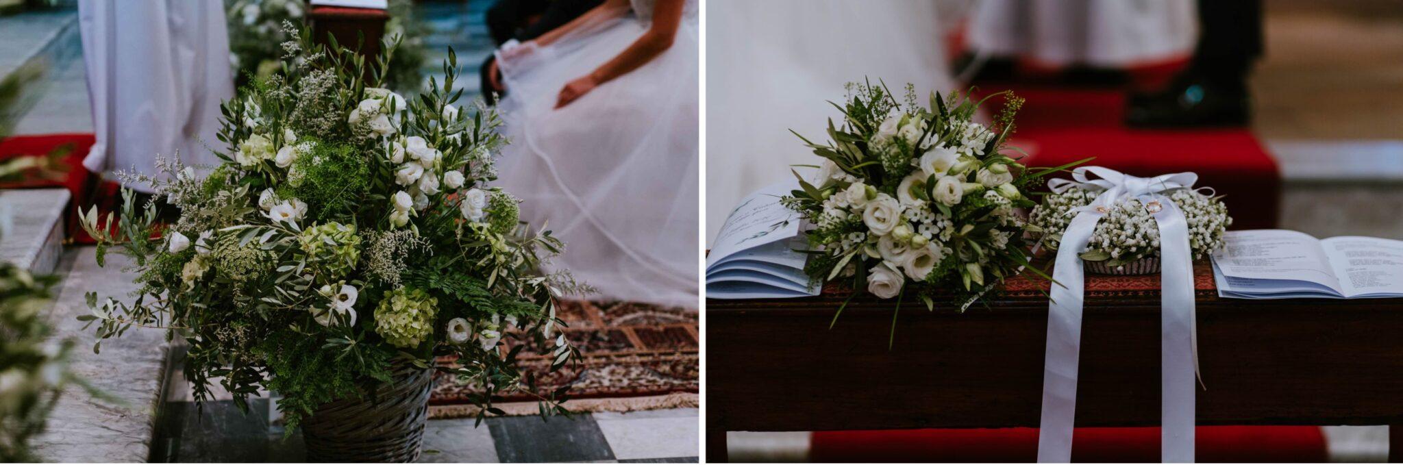 allestimento fiori alla chiesa di Altopascio