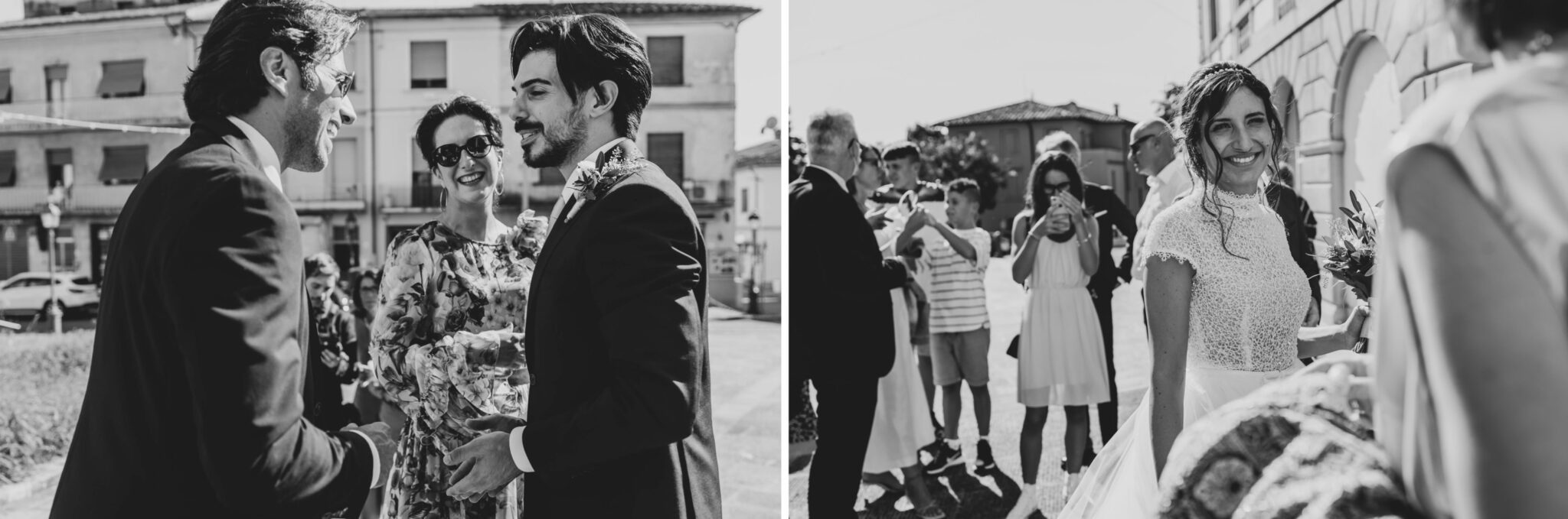 saluti durante matrimonio ad Altopascio
