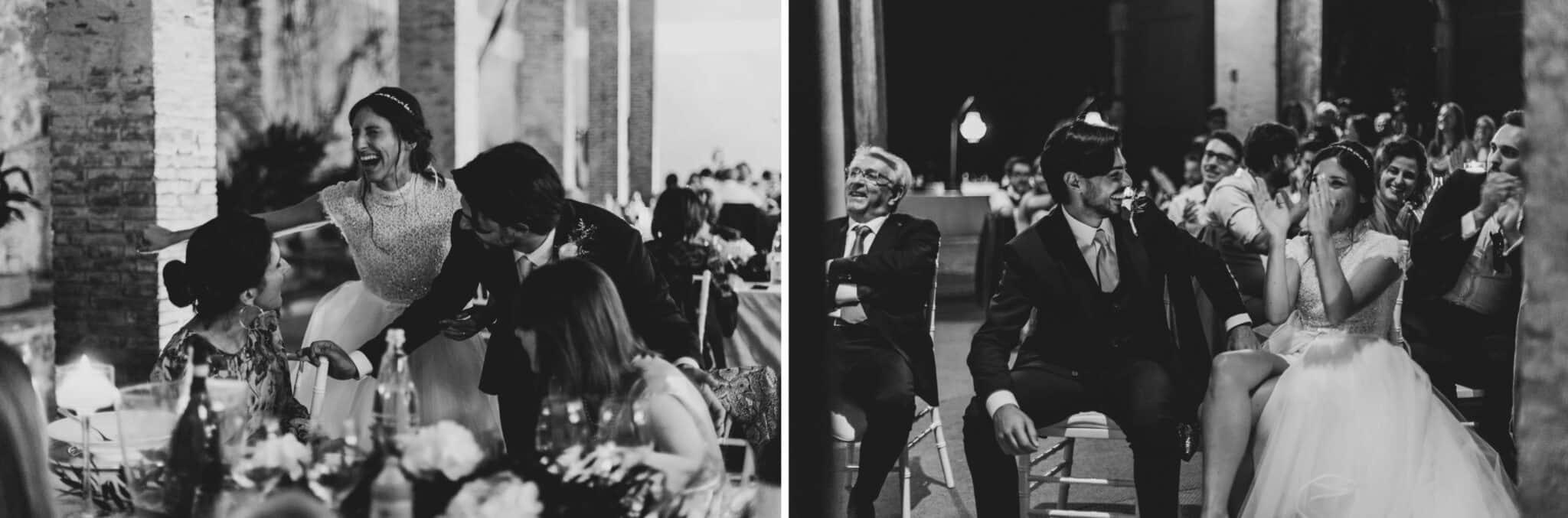Moments during a wedding in Villa Grabau