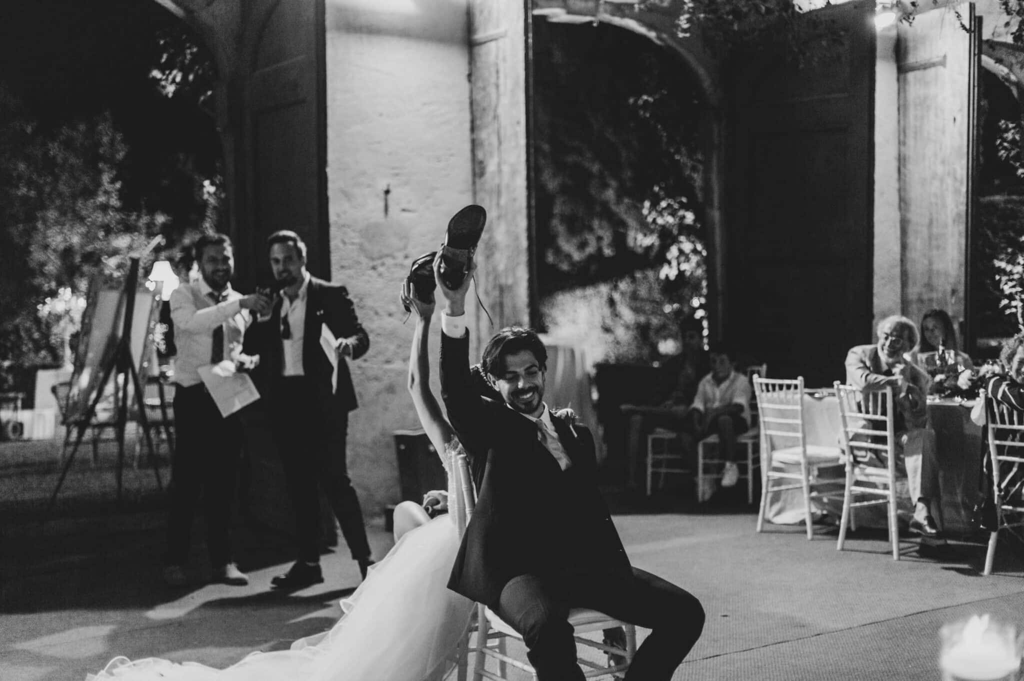 giochi durante un matrimonio a Villa Grabau