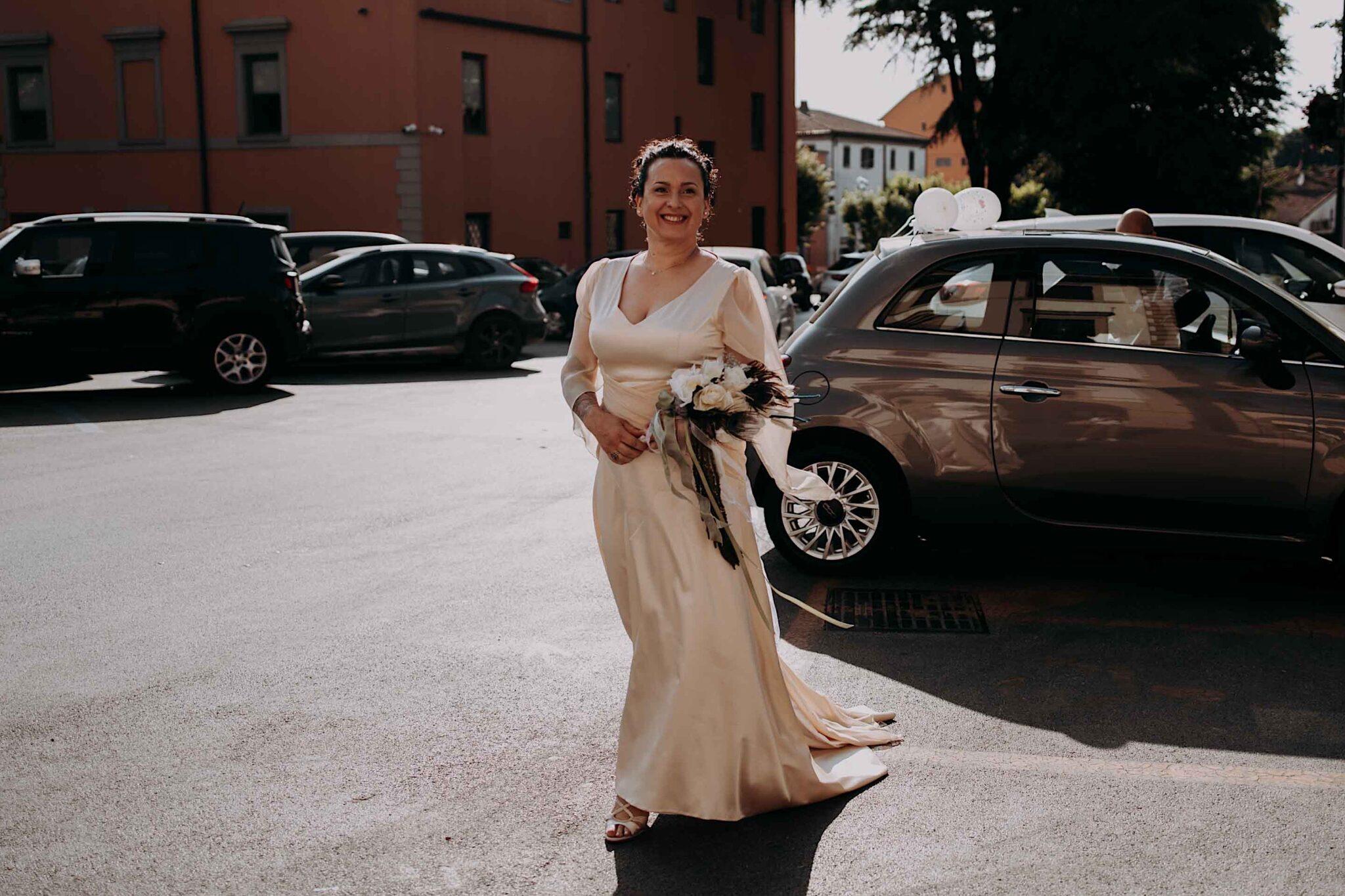 l'arrivo della sposa, matrimonio ad Altopascio