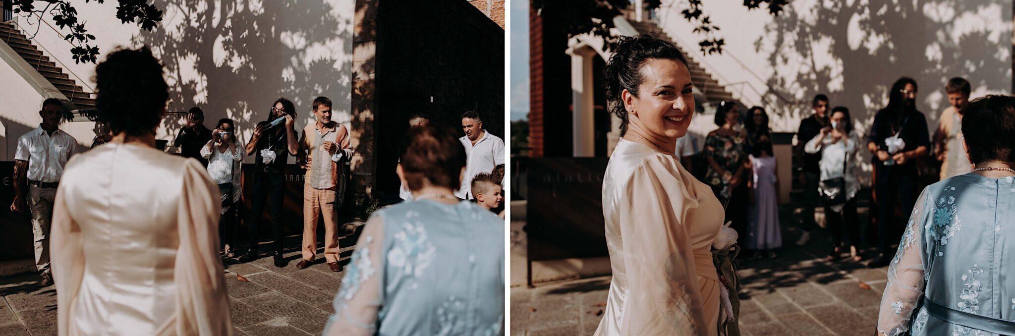 la sposa e gli invitati