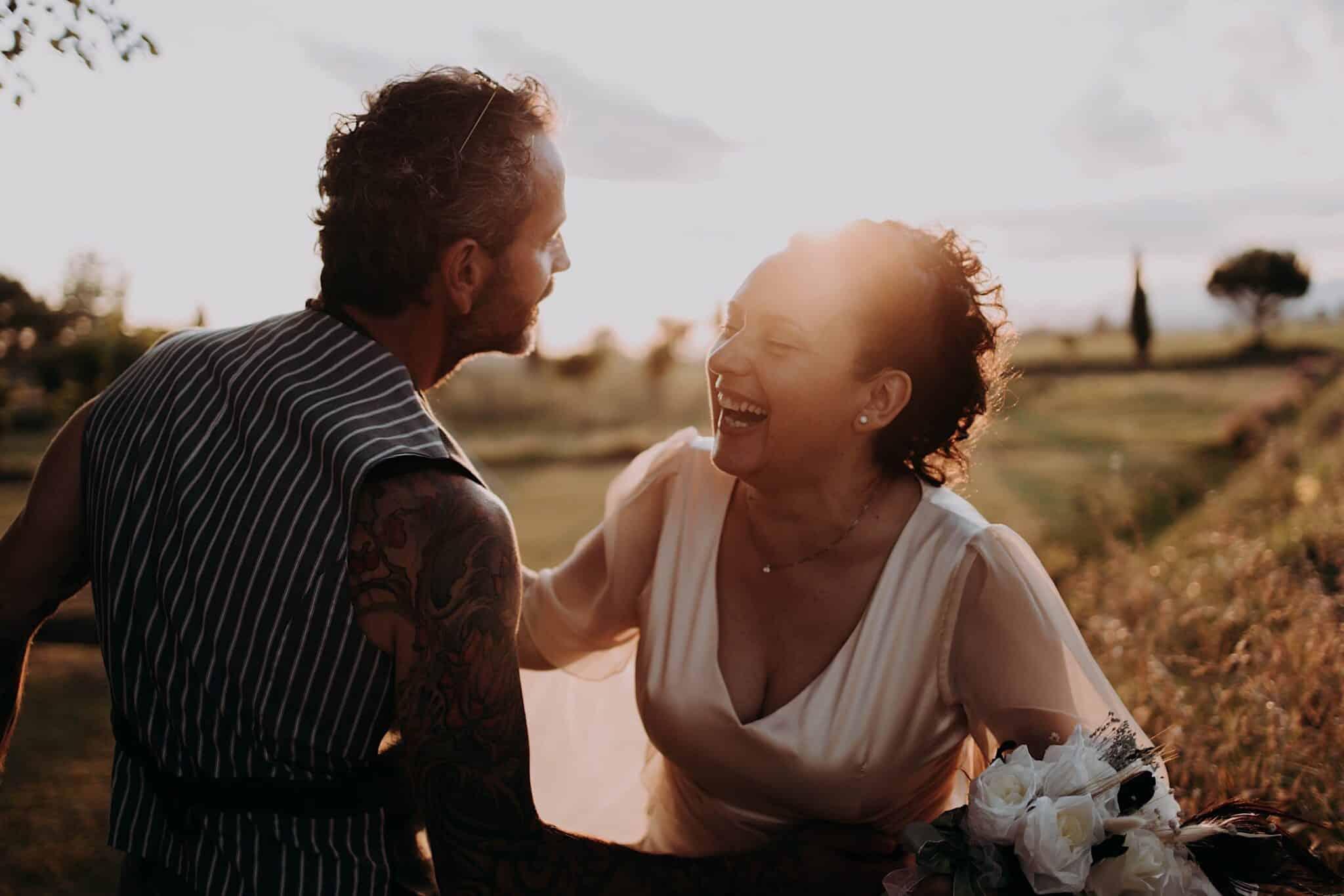 sessione fotografica con gli sposi