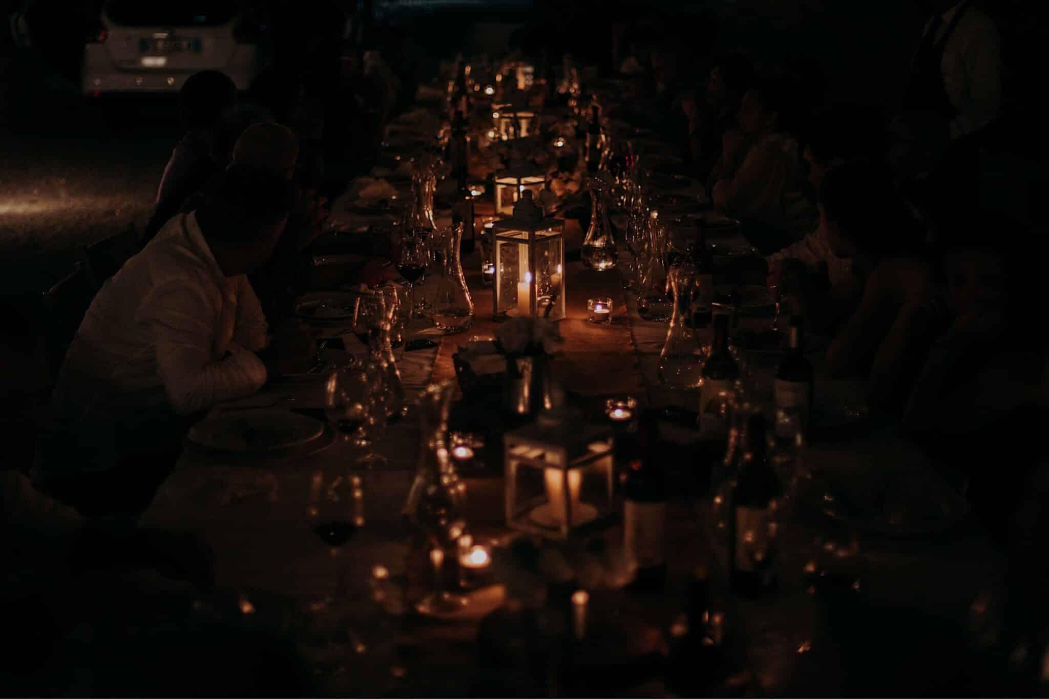 dettagli della luce di candele