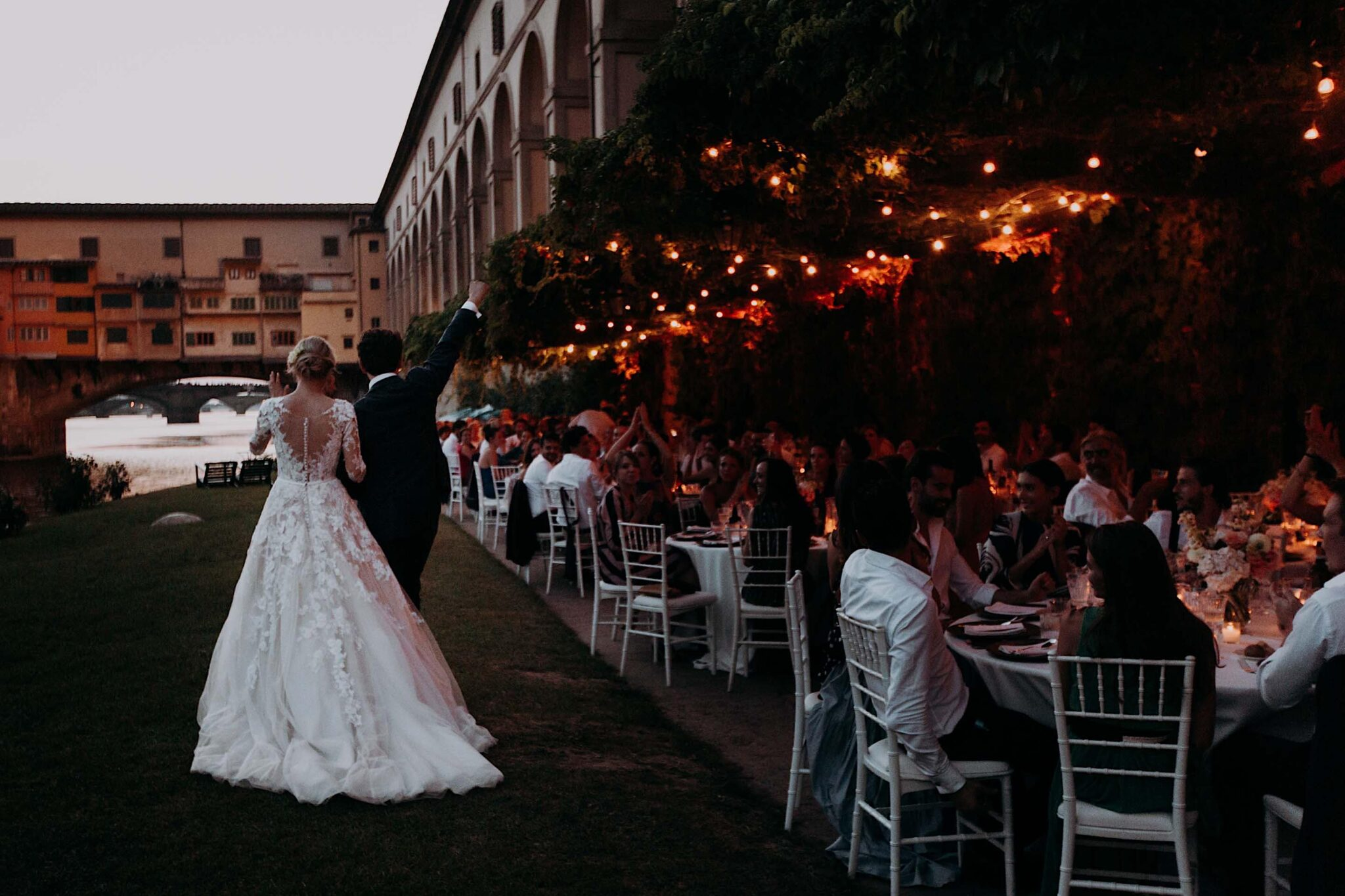 cena sul Lungarno, società dei Canottieri di Firenze