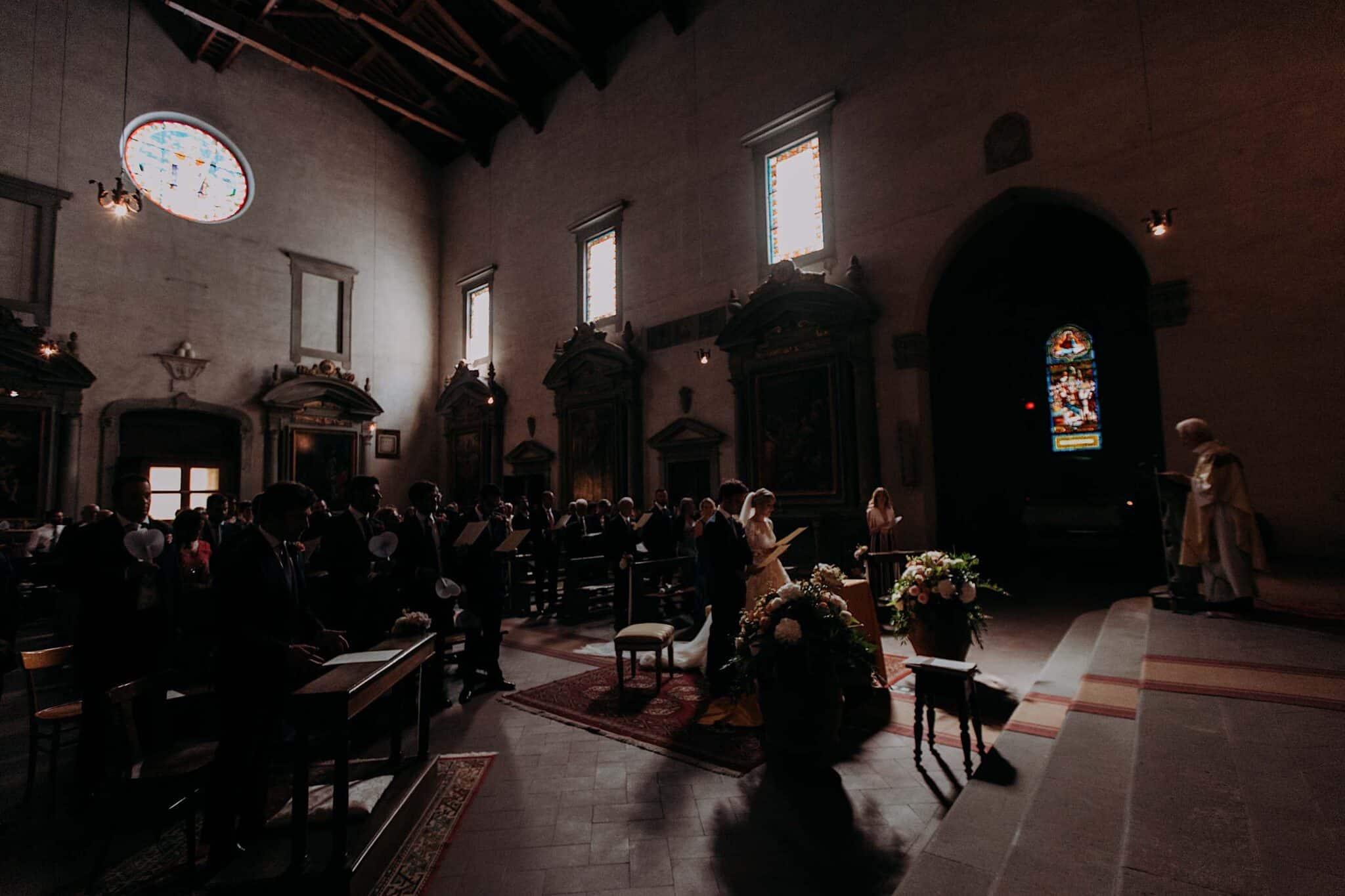interno della chiesa di San Niccolò Sopr'Arno a Firenze