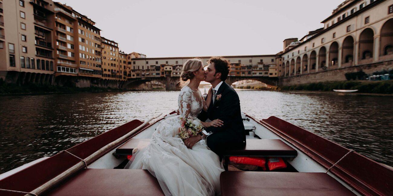 in barca sull'Arno a Firenze