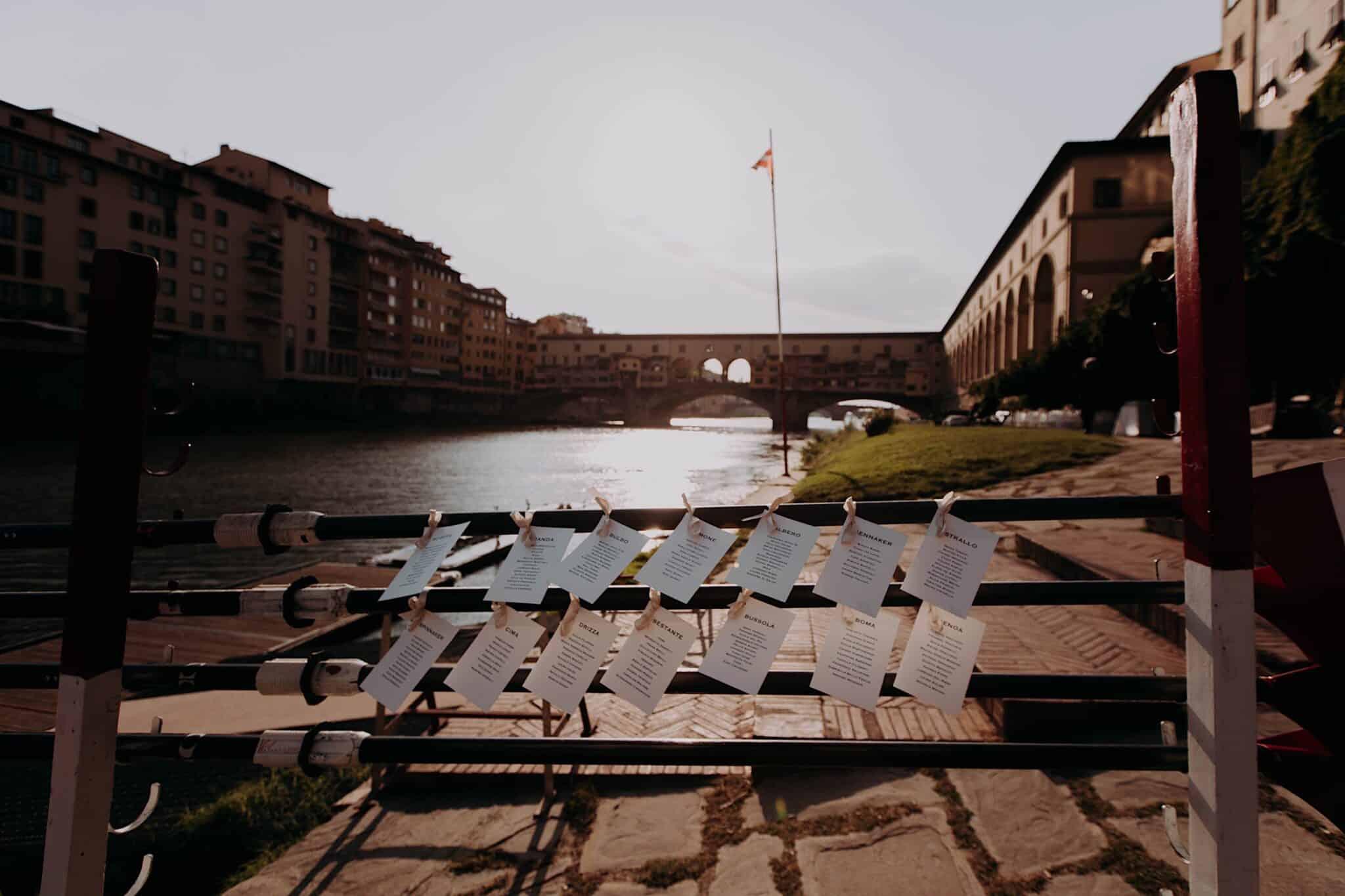 allestimento Lungarno, società Canottieri Firenze